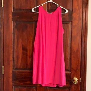 Pink Silk Business Dress